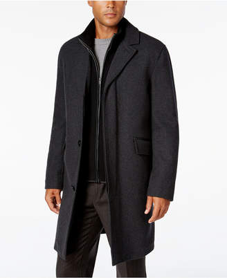 Cole Haan Men Twill Bibby Overcoat