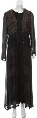 Dries Van Noten Long Sleeve Maxi Dress Set