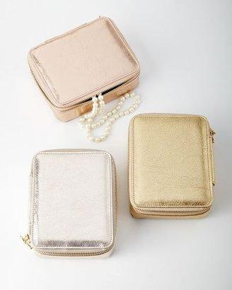 Metallic Jewelry Travel Case
