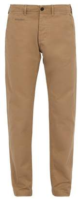 BEIGE President's - Mid Rise Cotton Gabardine Chino Trousers - Mens