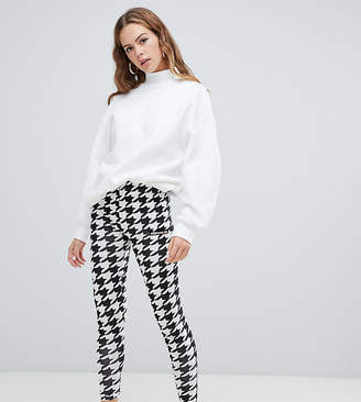 Ellesse Leggings With Side Logo In Houndstooth