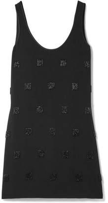 Elizabeth and James Greene Embellished Crepe Mini Dress - Black