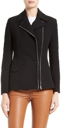Women's Helmut Lang Technical Stretch Suiting Jacket $695 thestylecure.com