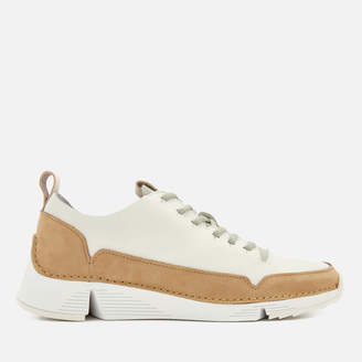 Clarks Women's Tri Spark Leather Trainers