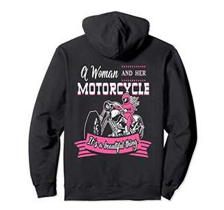A Woman And Her Motorcycle. Bikers Motorcycle Rider Design Pullover Hoodie