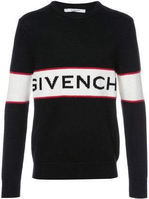 Givenchy logo knit jumper $895 thestylecure.com