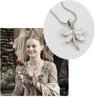 Geeky Chic Crystal Dragonfly Pendant Necklace Fashion Jewelry