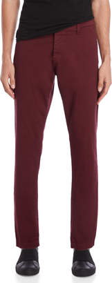 Imperial Star Burgundy Straight Mid-Rise Pants
