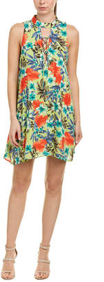 Peach Love Ca Lace-Up Shift Dress