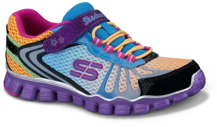 Skechers skech flex running wild athletic shoes - girls