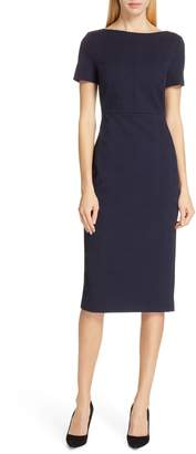 BOSS Dalula Tonal Textured Sheath Dress