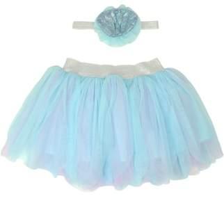 Popatu Mermaid Tutu Skirt & Headband Set