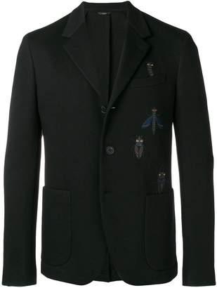 Fendi Super Bug embroidered blazer