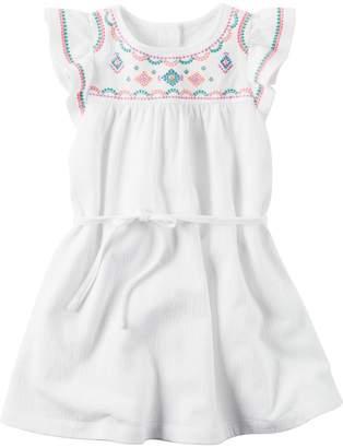 Girls 4-8 Carter's Flutter-Sleeved Dress $28 thestylecure.com