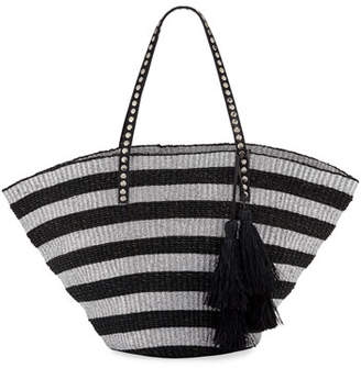 Rafe Sunni Large Straw Beach Tote Bag