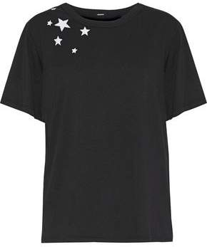 Monrow Embroidered Cotton-Jersey T-Shirt