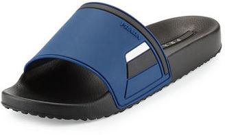 Prada Men's Colorblock Rubber Slide Sandal $190 thestylecure.com