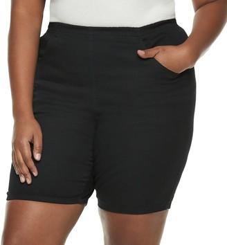 Croft & Barrow Plus Size Pull-On Twill Shorts