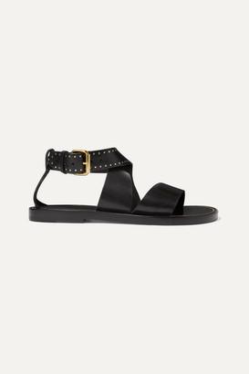 Isabel Marant Juzee Studded Leather Sandals - Black