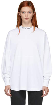 Palm Angels White Oversized Logo T-Shirt