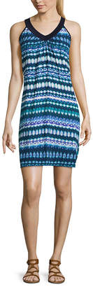 LM BEACH Lm Beach Pattern Jersey Swimsuit Cover-Up Dress