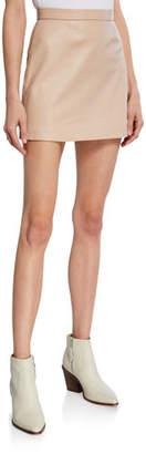Logan Sablyn Leather Short Skirt