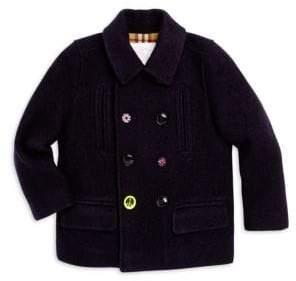Burberry Little Boy's& Boy's Lloyd Double-Breasted Wool Coat
