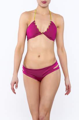 Caffe Hot Pink String Bikini