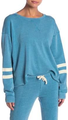 Vintage Havana Burnout Stripe Sleeve Pullover