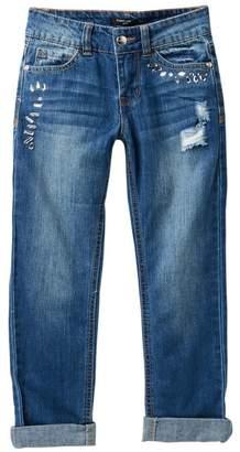 Bebe Embellished Denim Jeans (Big Girls)