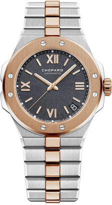 Chopard 41mm Two-Tone Watch w/ Bracelet Strap, Gray