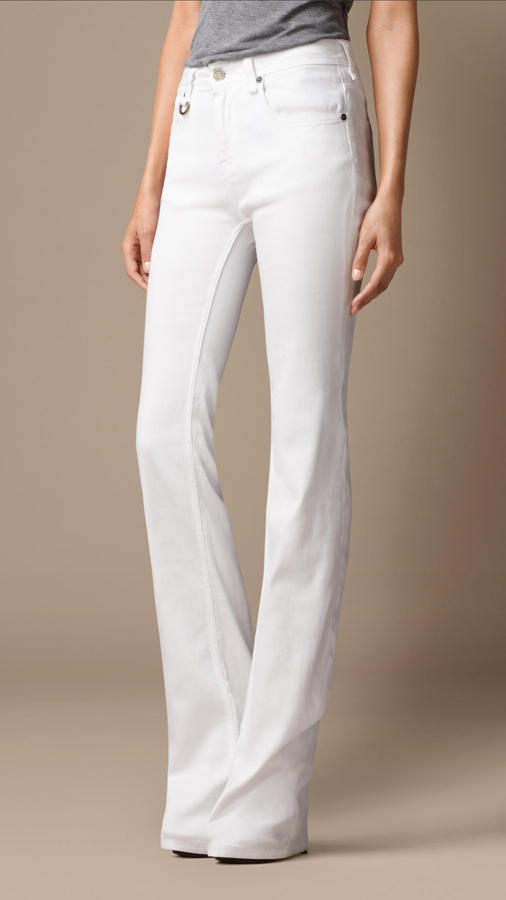 Chelsea White Bootcut Jeans