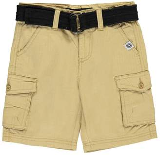"Akademiks Little Boys' Toddler ""Gridded Flaps"" Belted Cargo Shorts"