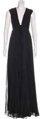 Halston Pleated Maxi Dress w/ Tags