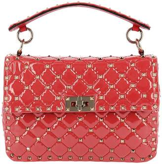 Valentino Mini Bag Rockstud Spike Bag In Pvc With Micro Studs And Shoulder Strap