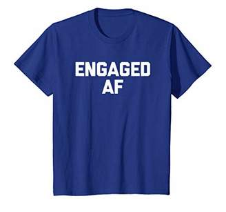 Abercrombie & Fitch Engaged T-Shirt funny saying sarcastic novelty humor cute