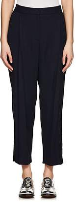 Ji Oh WOMEN'S PLEATED PIQUÉ TAPERED PANTS