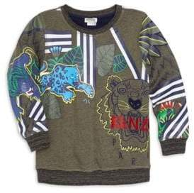 Kenzo Girl's Tiger and Friends Printed Sweater