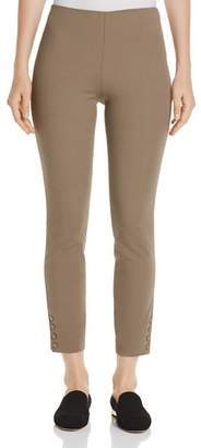 Theory Ankle-Snap Cropped Leggings