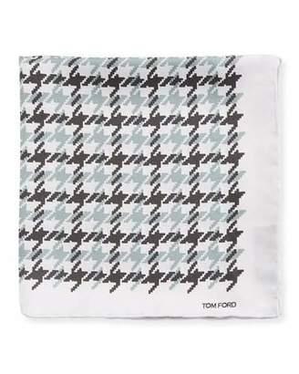 Tom Ford Houndstooth Silk Pocket Square