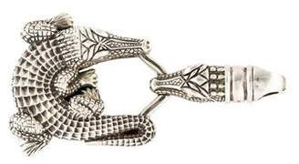 Kieselstein-Cord Artist Collection Alligator Belt Buckle