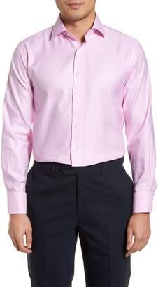 Lorenzo Uomo Trim Fit Textured Gingham Dress Shirt