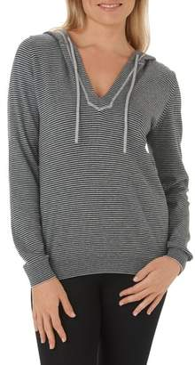 The White Company Stripe Cotton & Cashmere Hoodie