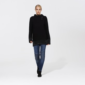 Karl Lagerfeld Paris KLP Button Turtleneck Chenille Sweater