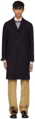 Prada Navy Wool Coat