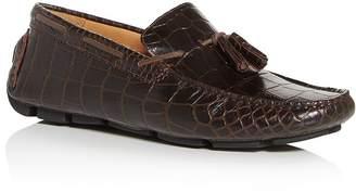 Bloomingdale's The Men's Store at Men's Croc-Embossed Moc-Toe Drivers - 100% Exclusive