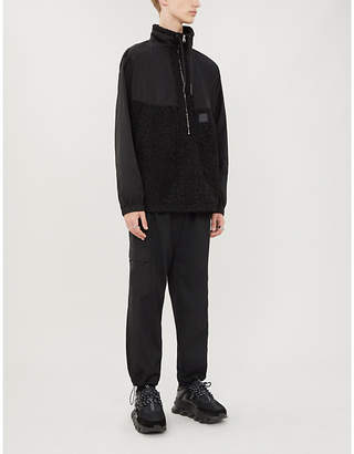 McQ Half-zip shell and faux-shearling jacket