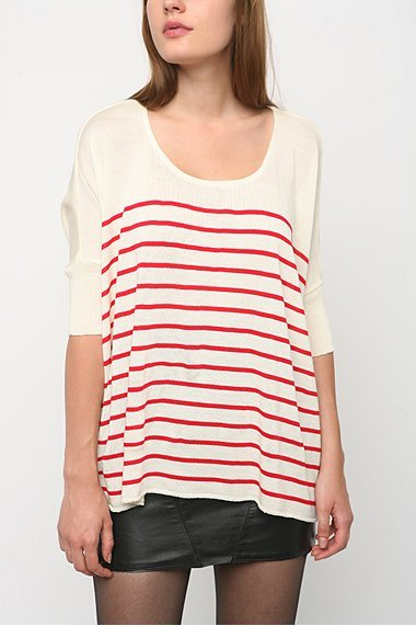 BDG Boxy Stripe Pullover Sweater