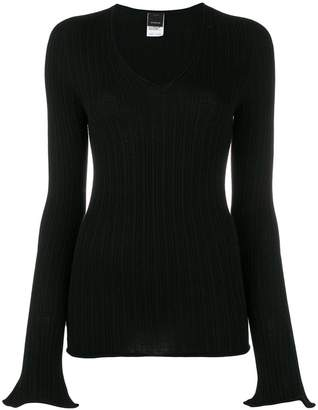 Pinko v-neck ribbed jumper