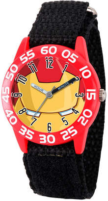 Marvel Boys Gray And Red Iron Man Time Teacher Plastic Strap Watch W003255